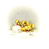 Ducks and Egg Giclee Print by Peggy Harris
