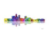 Des Moines Iowa Skyline 1 Reproduction procédé giclée par Marlene Watson