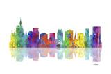 Orlando Florida Skyline 1 Reproduction procédé giclée par Marlene Watson