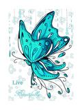 Live Beautifully Giclée-Druck von Megan Duncanson