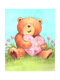 Bear with Heart Giclee Print by Melinda Hipsher