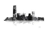 Oklahoma City Oklahoma Skyline BG 1 Reproduction procédé giclée par Marlene Watson