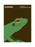 State Poster LA Louisiana Giclée-tryk