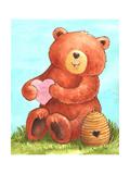 Bee Happy Bear Giclee Print by Melinda Hipsher