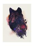 Universal Wolf Giclee-trykk av Robert Farkas
