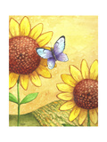 Sunflower and Butterfly Giclee Print by Melinda Hipsher