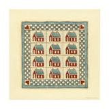 House Patchwork Reproduction procédé giclée par Robin Betterley