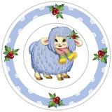 Dessert Plate Blue Lamb Reproduction photographique par Olga And Alexey Drozdov