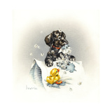 Just Ducky Giclee Print by Peggy Harris