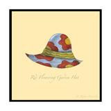 Red Flowering Garden Hat Reproduction procédé giclée par Robin Betterley