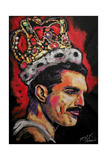 Freddie Mercury Painting 002 Giclee Print by Rock Demarco