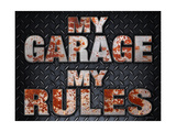My Rules Garage Gicléedruk van  Retroplanet