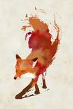 Vulpes Vulpes Giclee-trykk av Robert Farkas