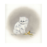 White Kitty (Ornament) Giclee Print by Peggy Harris