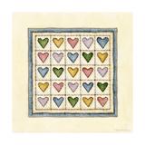Hearts Patchwork Reproduction procédé giclée par Robin Betterley