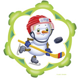 Snowman the Hockey Player Reproduction photographique par Olga And Alexey Drozdov