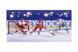 Eishockey Giclée-Druck von Olga And Alexey Drozdov