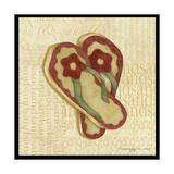 Red Flowering Sandals Reproduction procédé giclée par Robin Betterley