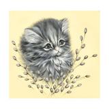 Precious Kitty Giclee Print by Peggy Harris