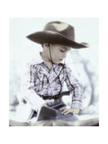 Little Boy Wearing Cowboy Hat Giclee Print by Nora Hernandez