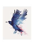 Bloody Crow Giclee-trykk av Robert Farkas