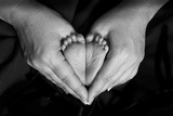 Hands and Baby Feet in a Heart Photographic Print by Nora Hernandez