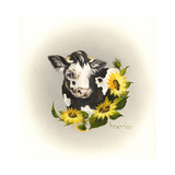 Cowl Ender Girl Giclee Print by Peggy Harris