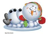 Sleeping Snowman Reproduction photographique par Olga And Alexey Drozdov