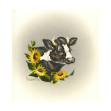 I Only Have Eyes for Moo Giclee Print by Peggy Harris