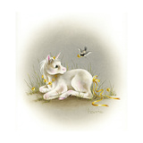 Baby Unicorn Giclee Print by Peggy Harris