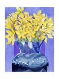 Daffodils in Cobalt Giclee Print by Sharon Pitts