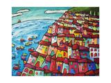 Cinque Terre, Amalfi Coast - Italy Reproduction procédé giclée par Sara Catena