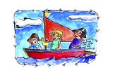 Watercolour Planet - Childhood Moments 3 Giclée-tryk af Sara Catena
