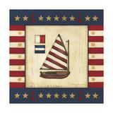 Red Sail Boat Giclée-Druck von Stephanie Marrott