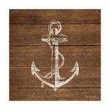 Anchor on Wood Lámina giclée por Stephanie Marrott
