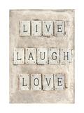 Live Laugh Love Impressão giclée por  Symposium Design