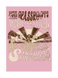 Grass Roots Music Festival Reproduction procédé giclée par  Whoartnow