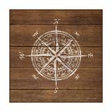 Compass on Wood Lámina giclée por Stephanie Marrott