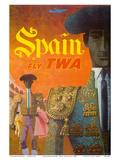 Spain - Fly TWA (Trans World Airlines) - Matadors Prints by David Klein