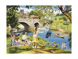 The Riverbank Giclee Print by Trevor Mitchell