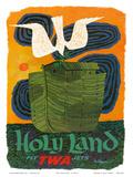 Holy Land - Fly TWA Jets (Trans World Airlines) - Noah's Ark Kunstdrucke von David Klein