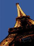 Eiffel Tower in Paris Reproduction photographique par  Whoartnow