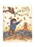 Herbstlaub Giclée-Druck von Wendy Edelson