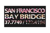 San Francisco Bay Bridge Reproduction procédé giclée par  Whoartnow