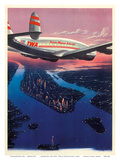 Manhattan, New York USA - TWA (Trans World Airlines) Plakater af Frank Soltesz
