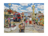 Arriving in Market Square Giclee Print by Trevor Mitchell