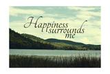Felicità, in inglese Stampa giclée di  Vintage Skies