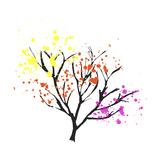 Colorful Leaves in a Tree Reproduction procédé giclée par  Whoartnow