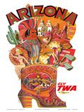 Arizona - Fly TWA (Trans World Airlines) Print by David Klein
