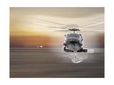 Helicopter over Water Reproduction procédé giclée par  Whoartnow